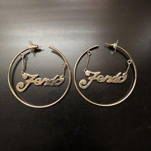 Fendi Gold Fever Hoop Earrings